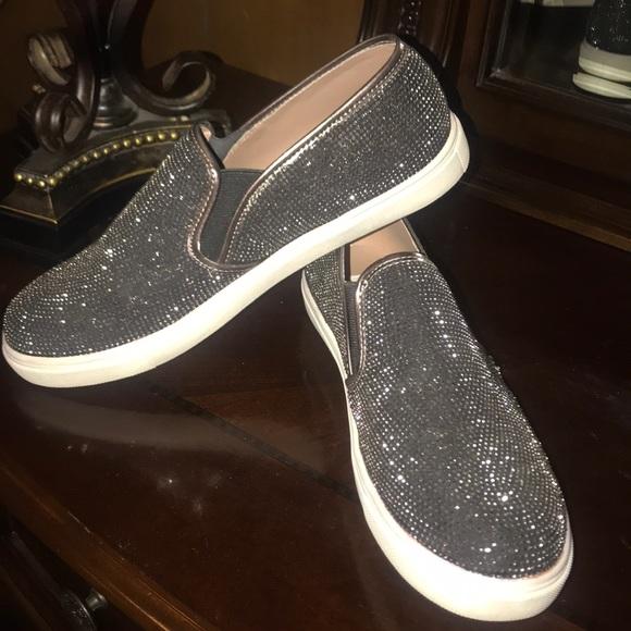 bbb32df64b4e57 ... bling black slip on sneaker. M 5a6fae7685e605d665aaf682